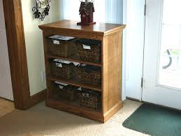 interior affordable wood entryway storage shelves with seagrass