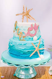 mermaid birthday cake the sea mermaid party birthday party ideas mermaid