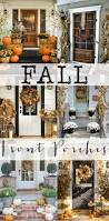 Fall Decorated Porches - fall front porches porch front porches and fall decor