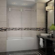 60 Shower Doors Tdr978 Langham 60 Frameless Sliding Tub Height Shower Door