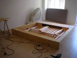 Diy Platform Bed Plans Furniture by Personality Bedroom Diy Platform Bed 2 Homemade Hampedia