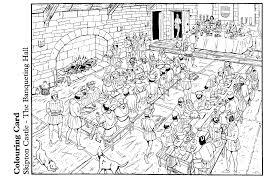 coloring page the banqueting hall img 14894