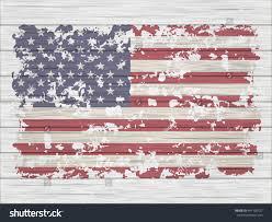 White American Flag Old American Flag On White Wooden Stock Vector 441100327