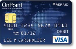 reloadable credit card onpoint credit cards prepaid cards oregon wa onpoint