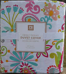 Pb Teen Duvet Pottery Barn Pb Teen Swirly Paisley Full Queen Duvet Cover Multi