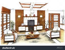 interior design sketch images home design best under interior