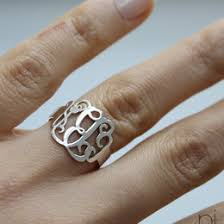 Sterling Silver Monogram Rings Monogram Ring Ideas U0026 Collections