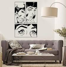 online get cheap vinyl wall stickers teen bedroom aliexpress cartoon girl vinyl wall stickers sexy woman teen crying cool pop art bedroom decal