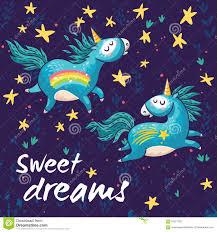 imagenes de unicornios en caricatura tarjeta dulce con unicornios lindos ilustración de la historieta del