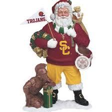 usc trojans santa figurine the danbury mint
