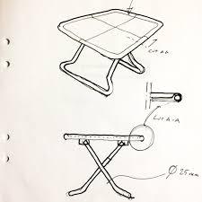 sketch of folding table by designer jon karlsson ikea today