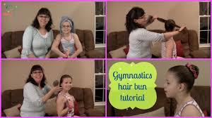 perfect easy hair bun tutorial for gymnasts skippy the gymnast