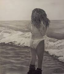 walter richter artwork watching the waves come in original