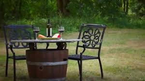 Wine Barrel Fire Pit Table by Wine Barrel Fire Pit Discounthearth Com Youtube