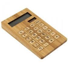 calculatrice bureau calculatrice de bureau solaire en bambou objet publicitaire