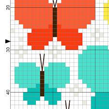 pretty butterflies cross stitch pattern daily cross stitch