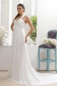 2013 summer beach beaded halter slim empire draped chiffon bridal