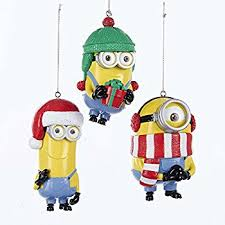 kurt adler despicable me dave and carl minion ornament