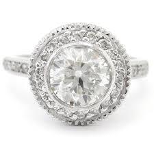Vintage Style Cushion Cut Engagement Rings Round Cut Bezel Set Antique Style Legacy Inspired Diamond