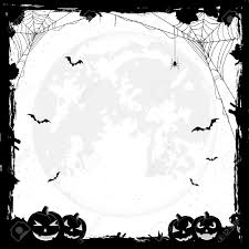 Free Halloween Border by Grunge Halloween Background With Pumpkins Bats And Spiders