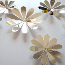 12x 3d flowers sunflower mirror flower effect sticker decal home