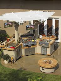 diy outdoor kitchen kits mossgreen wall paint white backless bar