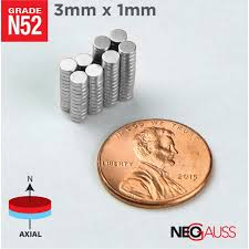 tiny small 3mm x 1mm n35 strong disc rare earth crafts tiny small magnets 1 8