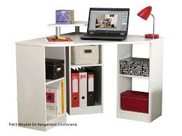 le bureau conforama petit meuble limone with bureau d angle corner coloris blanc vente