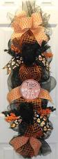 Halloween Mesh Wreaths Ideas Trick Or Treat Halloween Mesh Wreath Swag By Southernchicbyle On