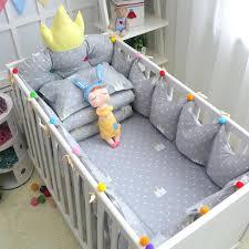 Crib Bedding Sets Uk Multi Colored Quilts 7pcs Set Grey Crown Pattern Crib Bedding Set