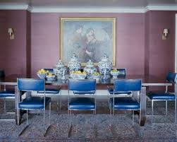 asian dining room ideas with wall art and blue chairs and chinese