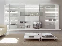 White Bookshelf With Glass Doors Wall Units Astounding Glass Wall Units Remarkable Glass Wall
