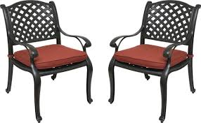 Outdoor Patio Dining Chairs Nevada Cast Aluminum Outdoor Patio Dining Chairs With Sunbrella