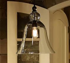 large rustic glass indoor outdoor pendant pottery barn