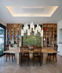 aesthetic lighting dining room contemporary with wall art wall art