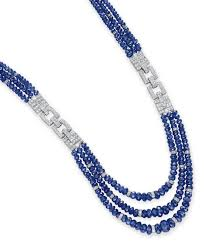 sapphire bead necklace images A sapphire bead and diamond necklace necklace diamond christie 39 s jpg