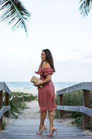 summer style chicwish mauve dress beach style date night