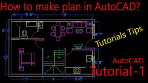 autocad tutorials hindi plan making in autocad tutorial for