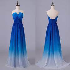royal blue gradient prom dresses u neck ombre long prom dresses