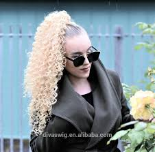 Real Ponytail Hair Extensions by Wholesale Blonde Ponytail Clip Online Buy Best Blonde Ponytail
