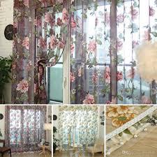 European Home Decor Stores European Flower Pattern Half Shading Curtain For Door Window Room