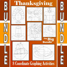 thanksgiving the big bundle 8 coordinate graphing activities