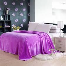 coral fleece blanket flannel fleece blanket solid color and