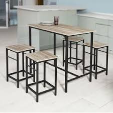 table haute de cuisine avec tabouret sobuy ogt11 n set de 1 table 43 4 tabourets ensemble table de bar
