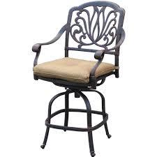 counter height swivel bar stools with backs darlee elisabeth cast aluminum patio counter height swivel bar