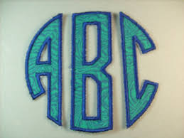iron on monogram initials three letter monogram iron on or sew on applique by deeappliques