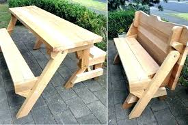 picnic table bench plans folding garden bench plans how to make folding bench and picnic