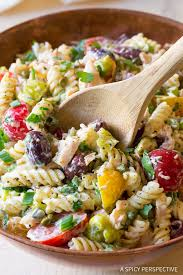 pasta salad with tuna tuna pasta salad with olives and capers a spicy perspective