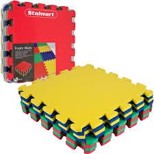 Walmart Floor Plan Tg Multi Color Eva Foam Exercise Mat 8 Piece Walmart Com