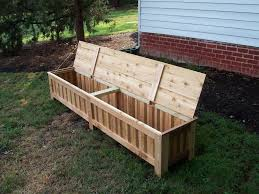 diy plans for an outdoor cushion storage containers designs